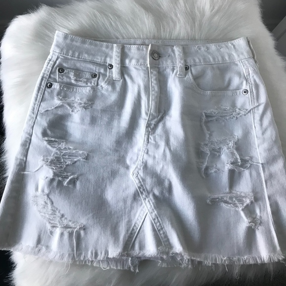0773a1c9f American Eagle Outfitters Dresses & Skirts - American Eagle White Denim  Skirt